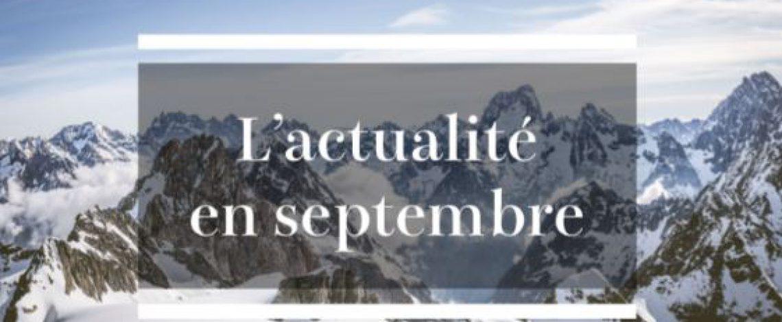Les nouvelles du mois de septembre